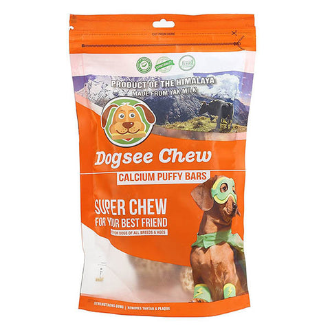 Dogseechew - Calcium Puffy Bar 80gm