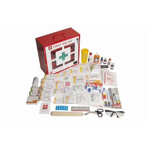 Workplace First Aid Kit Large - Plastic Box Wall Mounted - 69 Components - SJF P1 - St Johns First Aid Kit