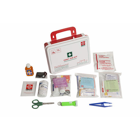 Workplace First Aid Kit Medium - Plastic Box Wall Mounted - 81 Components - SJF P4 - St Johns First Aid Kit