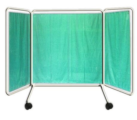 Bed Side Screen ( with Cloth ) 3 fold ( 20+ 40+ 20) Powder Coated