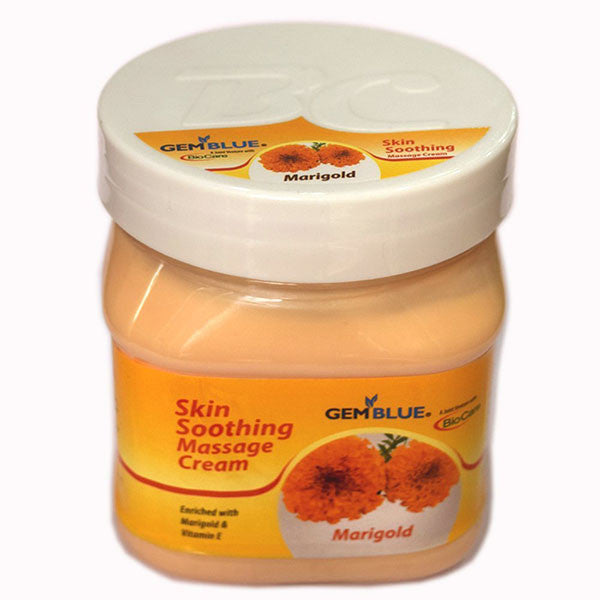 BioCare GEMBLUE Skin Soothing MARIGOLD Massage Cream 500ml