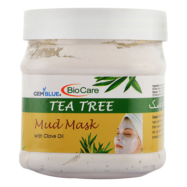 Bio Care Tea Tree Mud Mask with Clove Oil, 500 ml