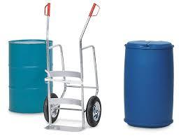 Bio West Collect Trolley - 1 Drum  ( 2Wheels )Stainless Steel