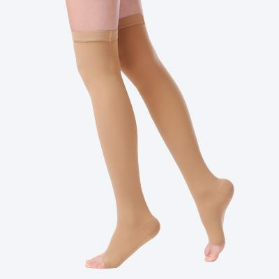 CPS-3106 Mid thigh compression stockings (Open toe)