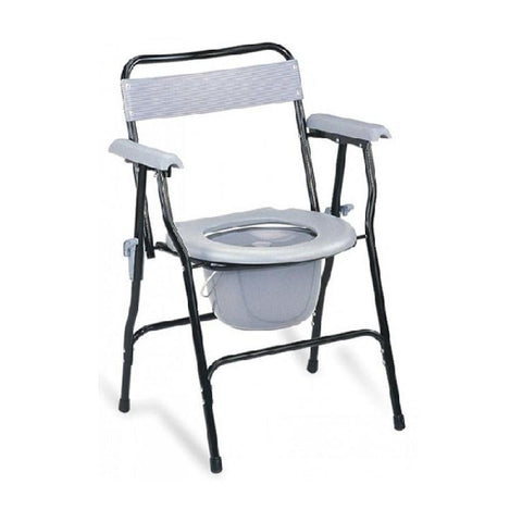 Invalid Commode Chair with Arm Rest Foldable