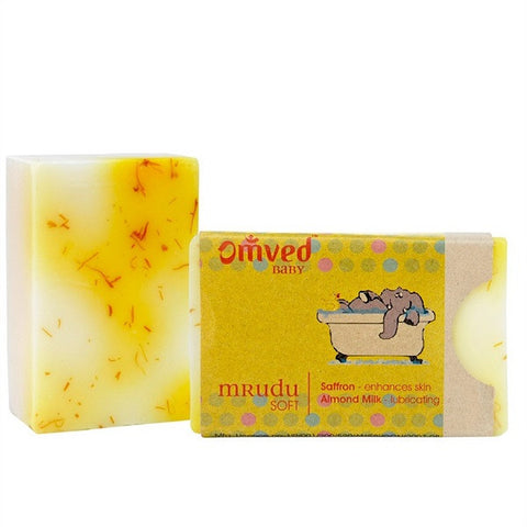 Omved Mrudu Almond Milk Saffron Soap