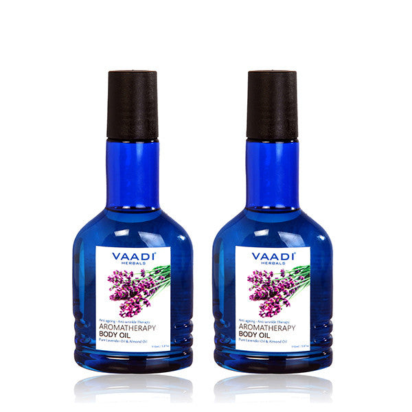 Pack of 2 Aromatherapy Body Oil-Lavender & Almond Oil