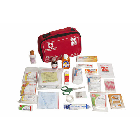 Travel First Aid Kit Large - Nylon Pouch -77 Components - SJF T4 - St Johns First Aid Kit