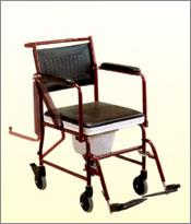 Wheel Chair with Commode With Detachable Arm Rest and Foot Rest F681