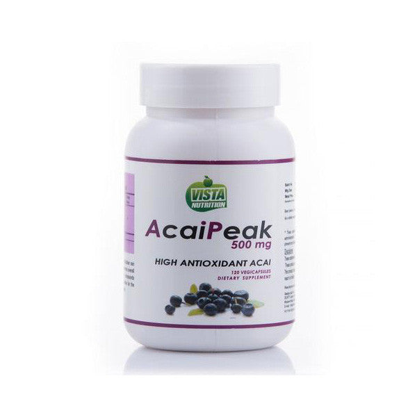 vista nutrition acaipeak 500 mg- 120 capsules