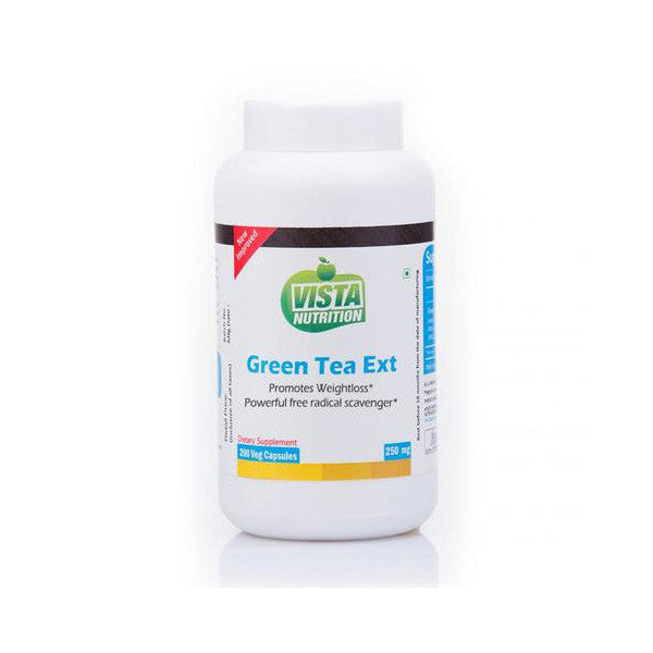 vista nutrition green tea extract 250mg - 200 capsules