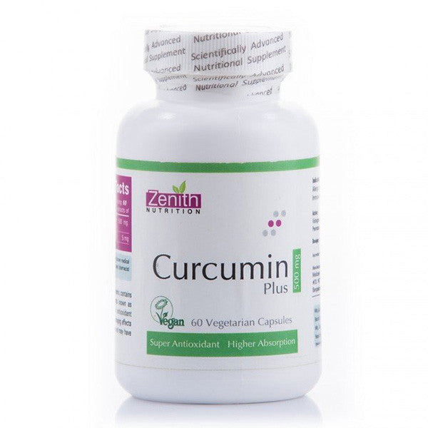 zenith nutrition curcumin plus - 500 mg - 60 capsules