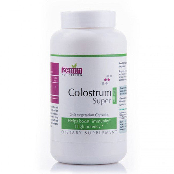 zenith nutrition colostrum super 400mg - 240 capsules