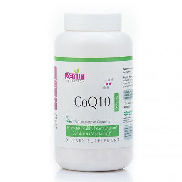 zenith nutrition coq10 60mg - 240 capsules