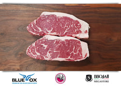 New York Strip Steak USA Blue Ox Prime Black Angus