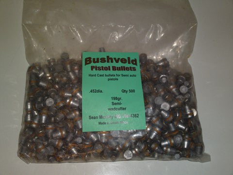 .45 Cast Pistol Bullets 198gr