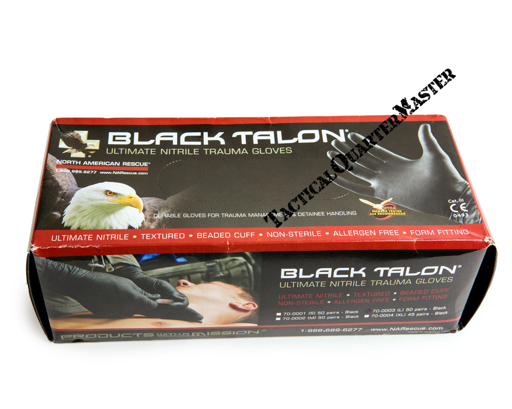 Black Talon Ultimate Nitrile Gloves- Box of 50 Pairs XL