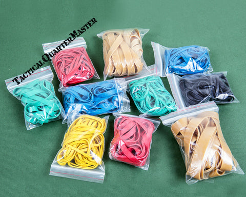 Bands Of Rubbers: Assorted Colour & Size Rubber Bands