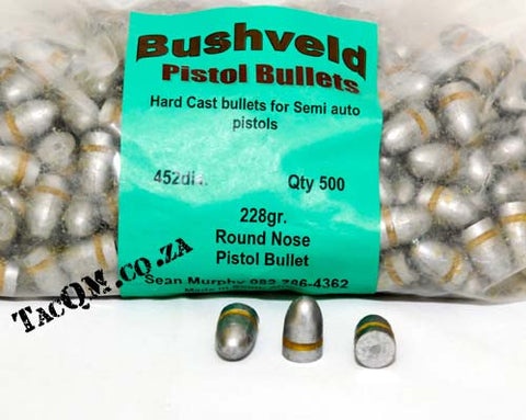 .45 Cast Pistol Bullets 228gr