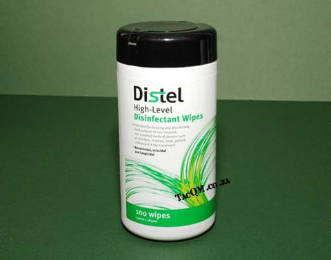 Distel High-Level Disinfectant Wipes