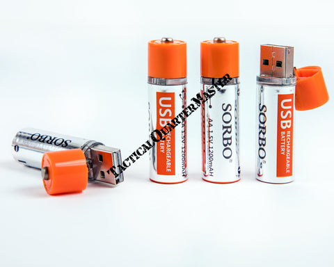 Sorbo USB Rechargeable Batteries Lithium Polymer
