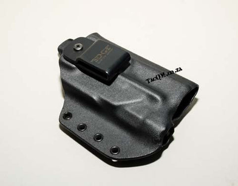 1834 Tactical - Edge Custom Carry - Glock 17/19 IWB Light Bearing Holster ' Black ' L/H