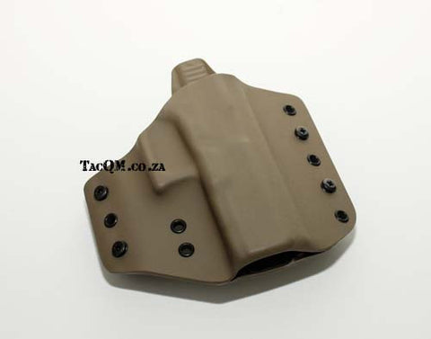 1834 Tactical - Edge Custom Carry - Glock17/19 OWB Holster - Green - L/H