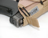 Left Hand Universal Holster with Bungee Retention: Sand