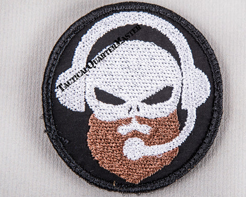 Patch: Grim Reaper Skull w/i Beard and Comms Gear