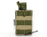 Universal Magazine Pouch with Pull Tab: Green