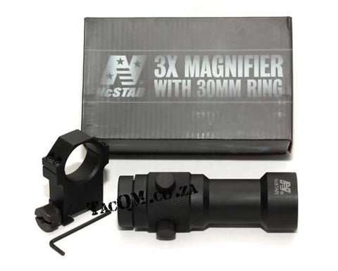 3X Magnifier with 30mm Ring Mount