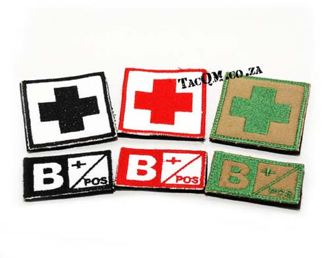 Set: B+ Blood Type Patch with Velcro Backing