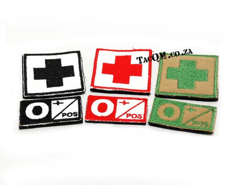 Set: O+ Blood Type Patch with Velcro Backing