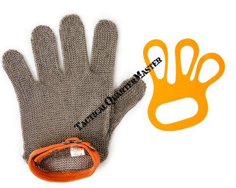 Glove: Chain Mail Wrist Length 5 Finger (XL)