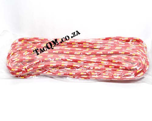 PP Outdoor Braid 6mm X 30 meters Red