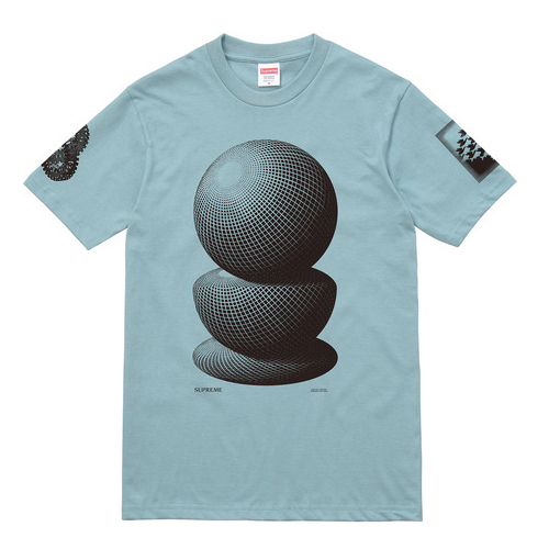 Supreme x M.C. Escher, Three Spheres T-Shirt - Teal