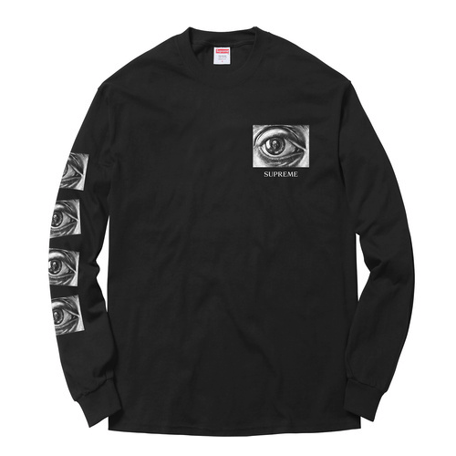 Supreme x M.C. Escher, Eye L/S Shirt - Black