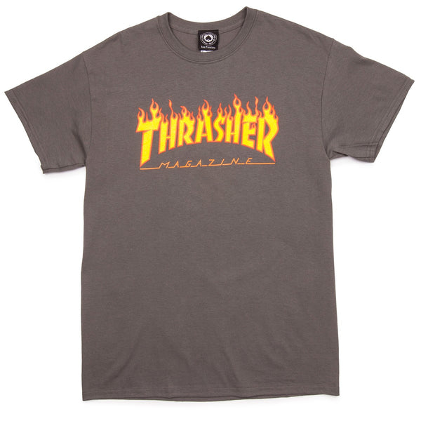 Thrasher, Flame T-Shirt - Charcoal - Northside