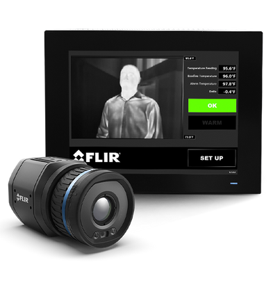 INTEGRATED SYSTEM TO DETECT ELEVATED SKIN TEMPERATURE FLIR A700-EST™ IS MODEL: SINGLE-HEAD REMOTE INTEGRATED EST SCREENING