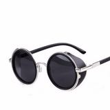 Vintage Retro Sideshield Steampunk Sunglasses