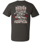 Drugs Bottles Throttles Shirt Back Printed