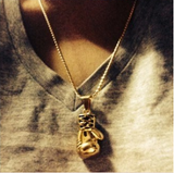 Gold/Silver Plated Fashion Mini Boxing Glove Necklace