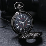 Vintage Fashion Roman Number Quartz Steampunk Pocket Watch