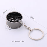 Wheel Rim Model Keychain