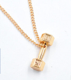 High Quality Fitness Dumbbell Pendant Necklace
