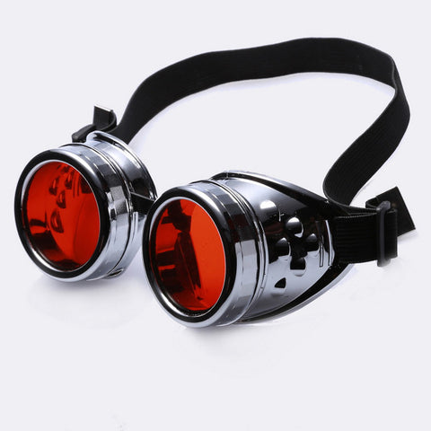 Steampunk Victorian Style Goggles Color Lenses