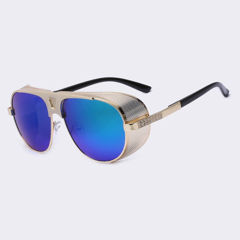 Steampunk Mirror Metal Frame Sunglasses