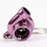 Spinning Turbine Keychain Turbocharger Multiple Colors