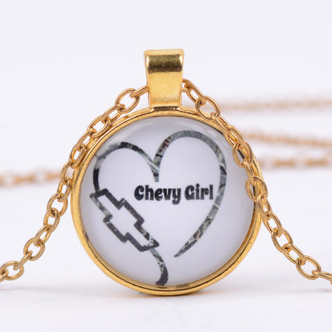 Chevy Girl Pendant Necklace