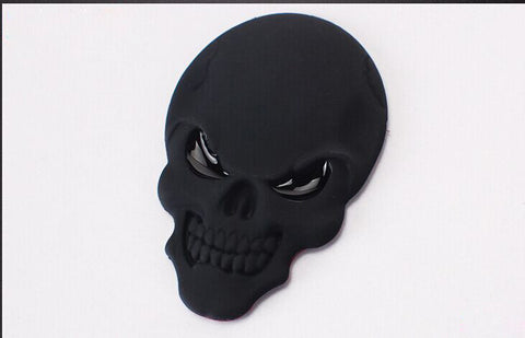 3D Skull Emblem Badge Sticker
